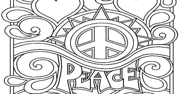 Small peace sign coloring pages ~ Peace Sign Coloring Pages Printable - Enjoy Coloring ...