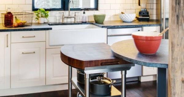 Look A Kitchen Island With Moving Parts Cement Countertops Countertops And Compact
