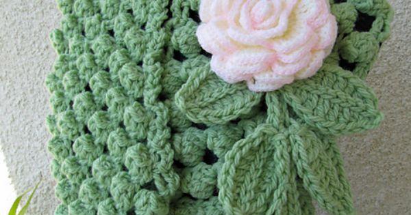 Crochet Scarf Patterns With Popcorn Stitch : Chunky Infinity Scarf Crochet Popcorn Stitch pattern by ...