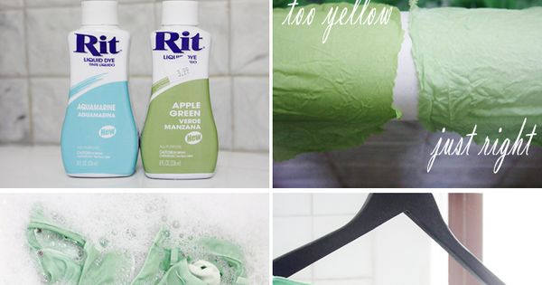 DIY mint green denim jeans