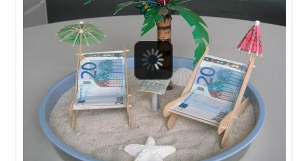 diy geldgeschenk strand urlaub urlaubsgeld diy present gift money ideen pinterest. Black Bedroom Furniture Sets. Home Design Ideas