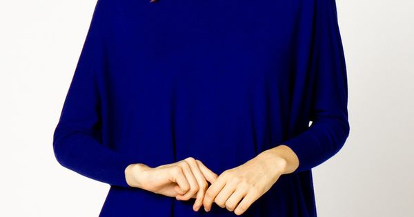The Softest Dropped Shoulder Sweater in Royal Blue