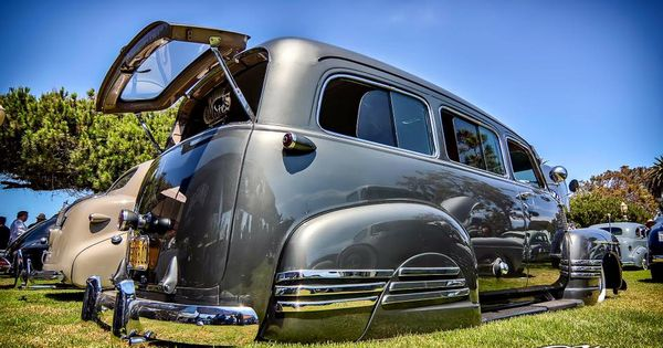 1955 Chevy Suburban With Fender Skirts