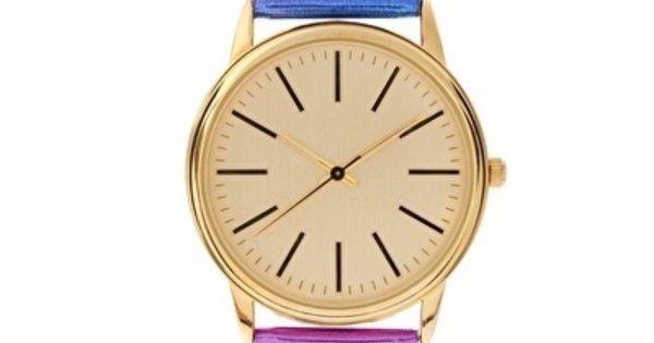 asos multicolor metallic watch Love the colors!