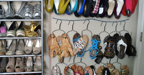 #SHOE HANGERS handmade smart organize shoes closet.