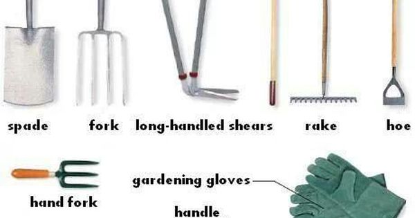 Gardening tools the outdoors vocabulary pinterest for Gardening tools vocabulary