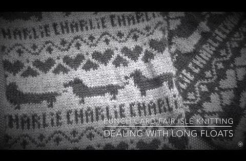 Fair Isle Weaving in Long Floats Punchcard Machine Knitting SK360 ...