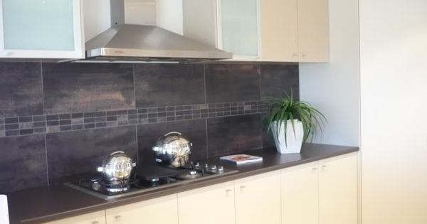 Large format tile 1 kitchens pinterest splashback for Cheap kitchen splashback ideas