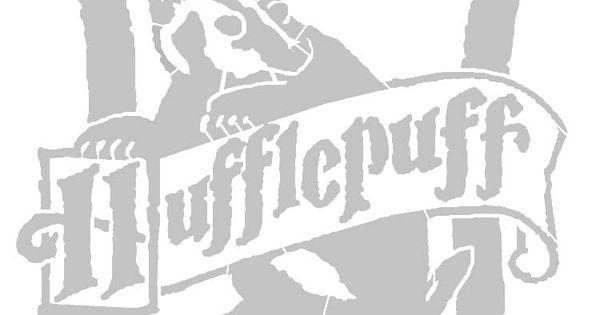 Hufflepuffcrest Stencil Old Harry Potter Bar Mitzvah