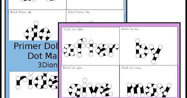 Sight Word Dot Marker Primer & First Grade