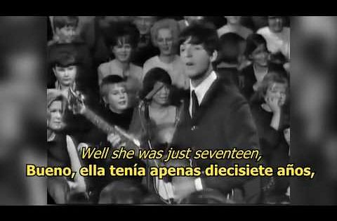 I Saw Her Standing There The Beatles Lyrics Letra Original