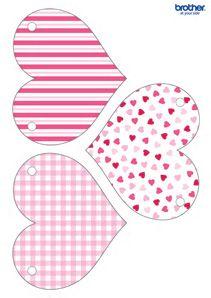 Valentine Pink Heart Bunting Valentines Printables Valentines Printables Free Valentines Day Decorations