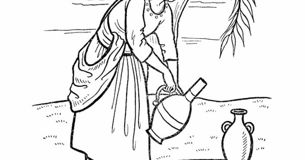 Rebekah at the well | Printable Coloring Pages & Games ...