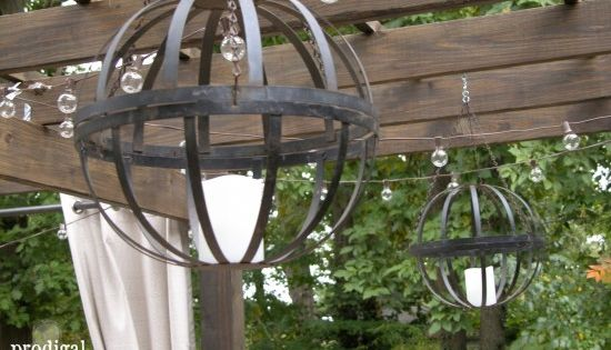 Led Hanging Flower Baskets : Rocker found curbside turned black beauty hanging flower