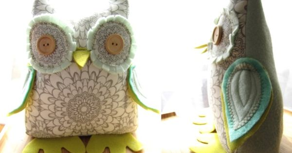 Owl stuffed doorstop