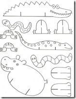 Recortable 15 Manualidades Artesania De Animales Manualidades Escolares