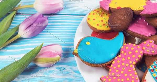 Tulips and gingerbread cookies – Easter Day