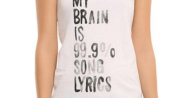 Song Lyrics Girls Tank Top | Hot Topic!!!!! I NEED THIS SHIRT
