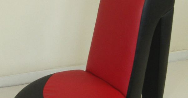 Black Amp Red Shoe High Heel Stiletto Chair Dressing