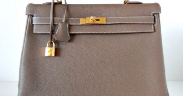 HERMES KELLY 35 Supple Bag BLEU LIN gold hardware 2die4 NEW colour ...