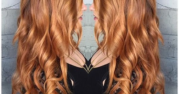 Golden Copper Hair Color  Pretty Hair  Pinterest  Erdbeeren Eimer Und Haa