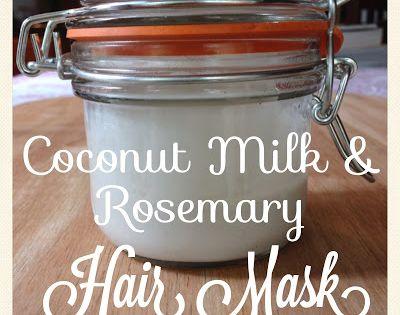 Fresh Picked Beauty: DIY Coconut Milk Rosemary Hair Mask Recipe