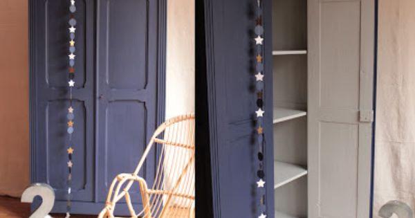 Armoire Parisienne Bleue Nuit Mobilier De Salon Relooking Armoire Armoire Parisienne