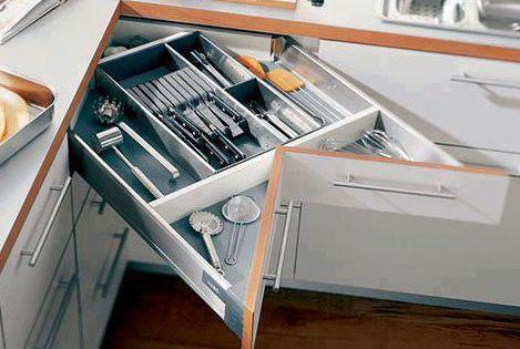 Cajones modulares en esquina en las cocinas muebles de - Muebles de cocina modulares ...