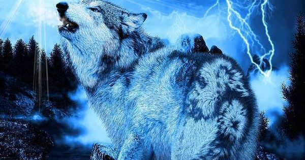 Blue Lightning Wolf | Wolves and Native American Indians ...