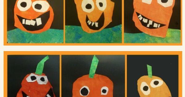 Citrouilles  automne, formes, halloween grade 1 (October)  Pinterest