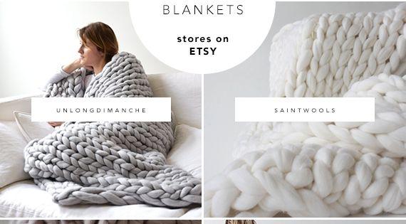10 best sources for chunky knit blankets on etsy schlafzimmer stricken und decken. Black Bedroom Furniture Sets. Home Design Ideas