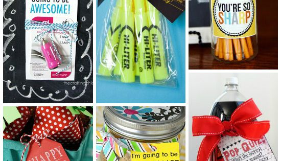 101 Teacher Gift Ideas including ideas for the first day of school,
