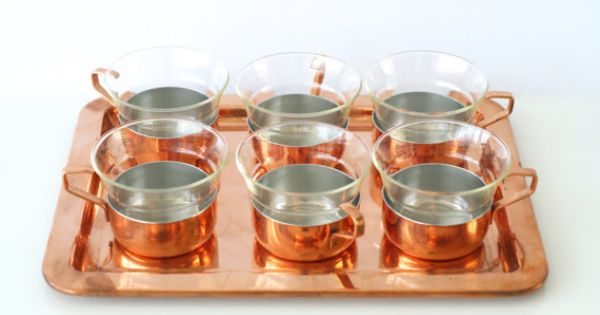 Copper Tea Set Culinox Made In Switzerland By Spring