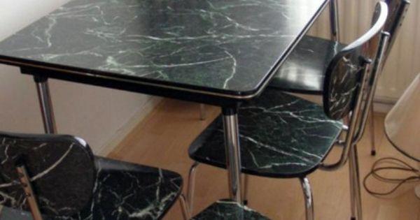 Formica tafel en stoelen stond vroeger bij ons in de keuken pinterest formica tafel - En ingerichte keuken americaine ...