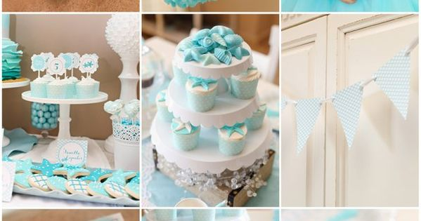 Mermaid Birthday Party ideas! No how-to's, but cool cupcake and decoration ideas!