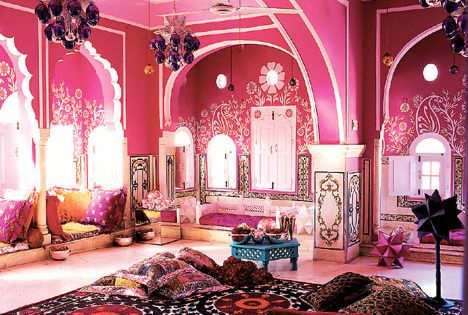 d coration indienne d coration indienne pinterest jaipur style boh me et salons. Black Bedroom Furniture Sets. Home Design Ideas