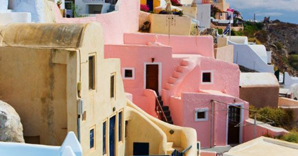 Colorful Santorini, Greece. amazingplaces totravel vacations iwantgohere