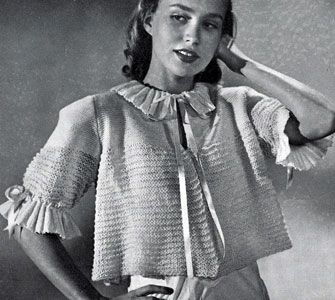 Vintage Knitting PATTERN to make Knitted Diamond Design Shortie Bed Jacket Sweater This is a pattern and//or instructions to make the item only. NOT a finished item