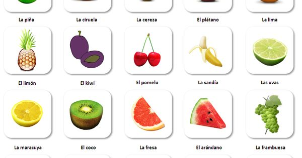 Frutas - Spanish fruit vocabulary for beginners