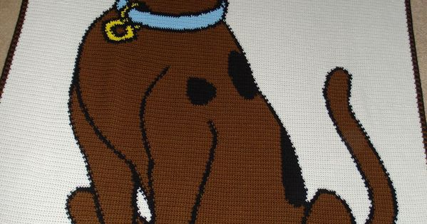 Scooby-Dooby Doo !!!! Teal background, Crochet blankets ...