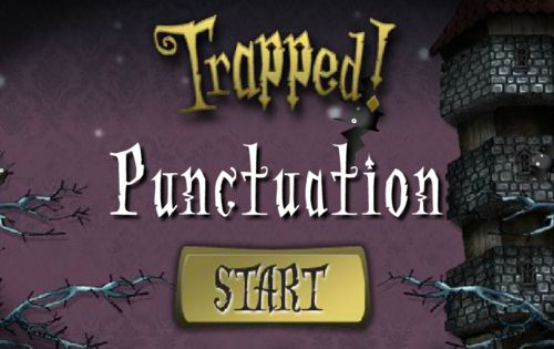 Trapped! Punctuation game from BBC - kids can have some ghostly fun