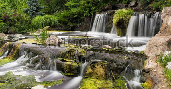 Man Made Waterfalls Of Lake Katherine In Palos Heights Illinois