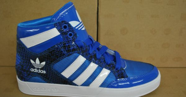 Adidas Hard Court Hi Womens Ladies High Tops Blue White
