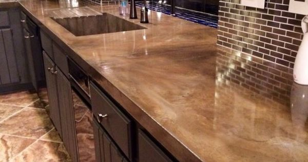 minimalist concrete kitchen countertops looks like granite kitchens. Black Bedroom Furniture Sets. Home Design Ideas