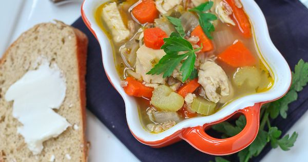 Chicken Soup with Farro and Vegetables - healthy, easy ...