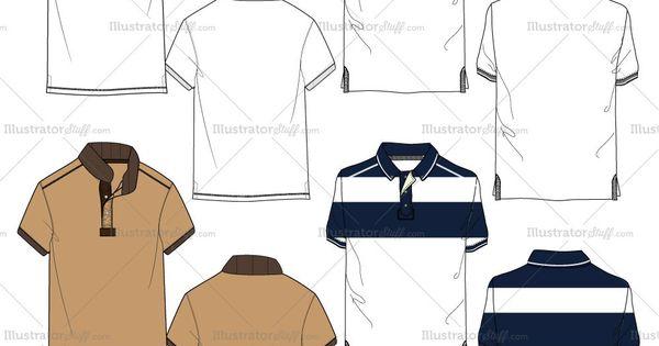 Men S Polo Shirt Fashion Flat Templates Polo Shirt Design Polo Design Mens Polo T Shirts