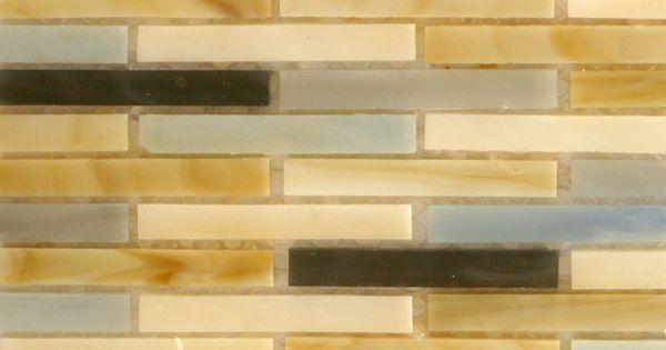 Glass matchstick tile for backsplash thinking vertical for Elegant horizontal glass tile backsplash