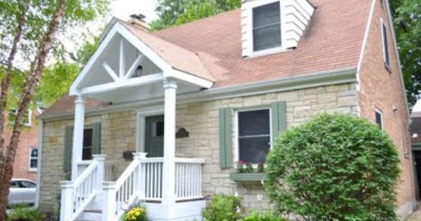 Nice Porch But Would Be Perfect With Front Of Roof Closed In With Fish Scale And More Turns Front Porch Design Small Front Porches Home Exterior Makeover