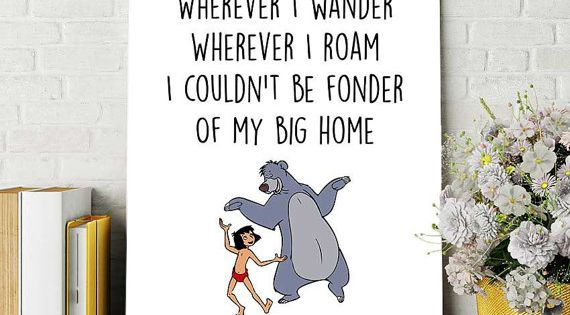 Jungle Book Love Quotes: Disney Quotes Jungle Book Print Baloo And Mowgli By