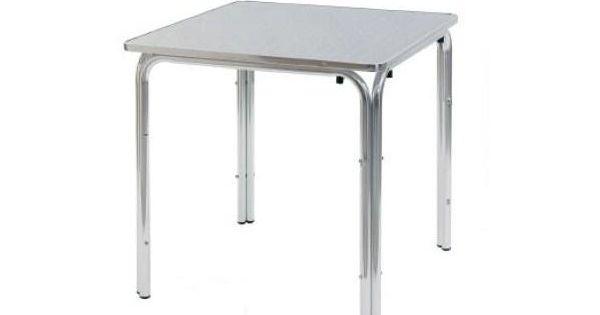 Tavoli alluminio quadrati misura 80 x 80 cm a 4 gambe da - Tavoli da esterno economici ...
